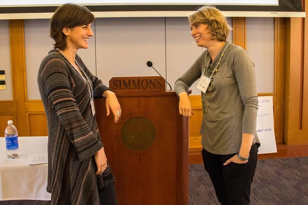 Simone Marean Rachel Simmons at Girl Meets World Professional Development Training