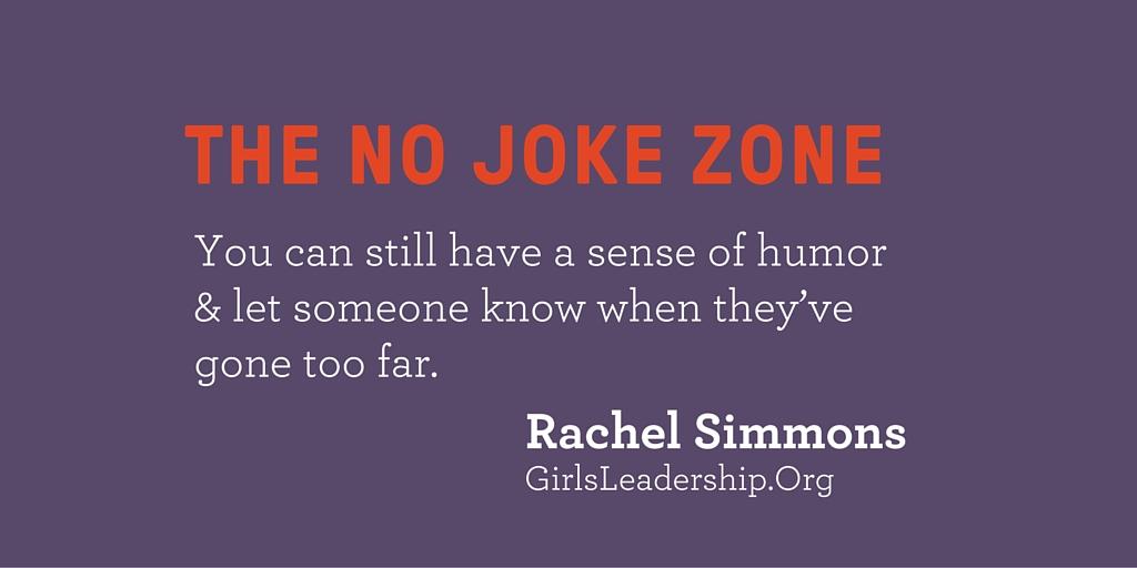No Joke Zone