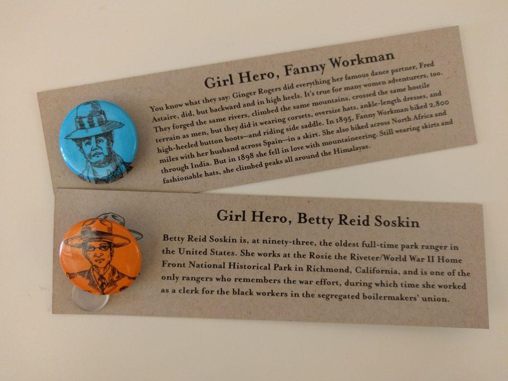 Gutsy Girl Buttons Fanny Workman Betty Reid Soskin