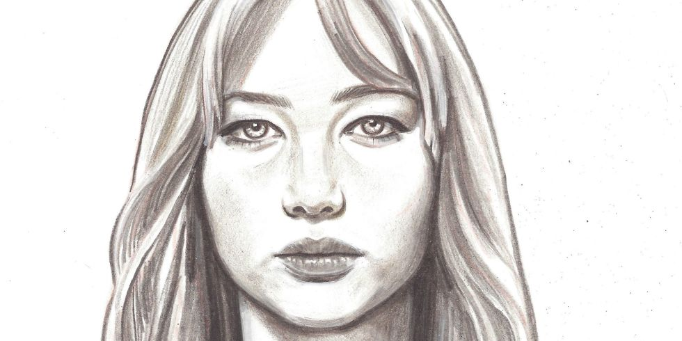 Jennifer Lawrence portrait by Jennifer Williams